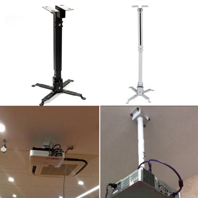 Universal Retractable Projector Bracket Extendable Adjule Ceiling Mount Wall 5kg Loading Capacity Hanging