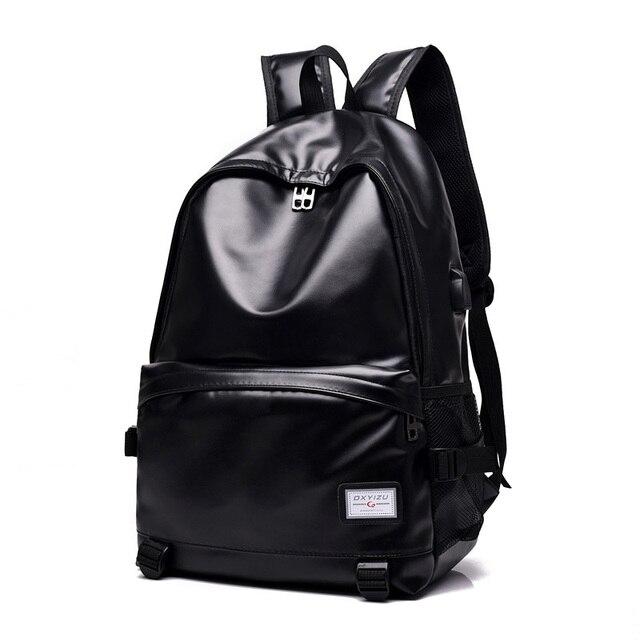 48bd1910 Boy bag Pack para hombres moda de cuero vintage Mochila De Lujo mochila  para portátil mochila