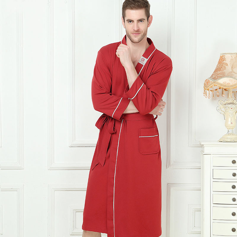 1cf8a6558c XMS Brand Bamboo Fiber Mens Stain Robe Bamboo Bathrobe Men Sleepwear Modern  Style Soft Embroidery Label ...