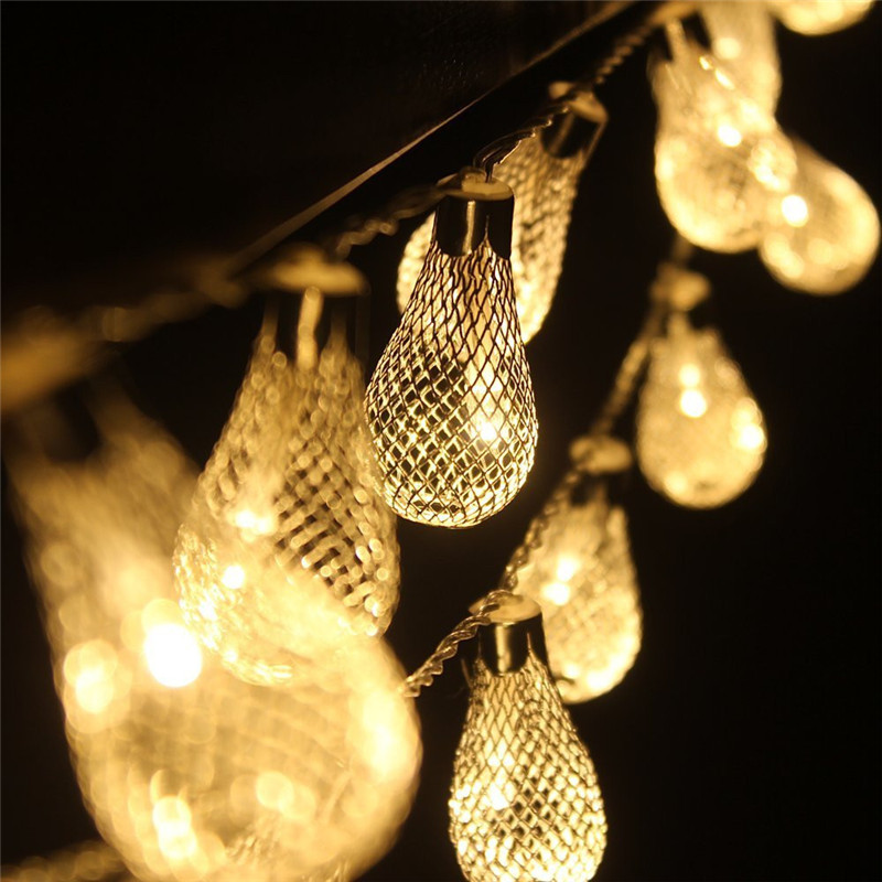 LumiParty EU 5M LED Metal Drip String Lights with 28LED String Fairy Light Christmas Outdoor Lighting Party Holiday Decoration