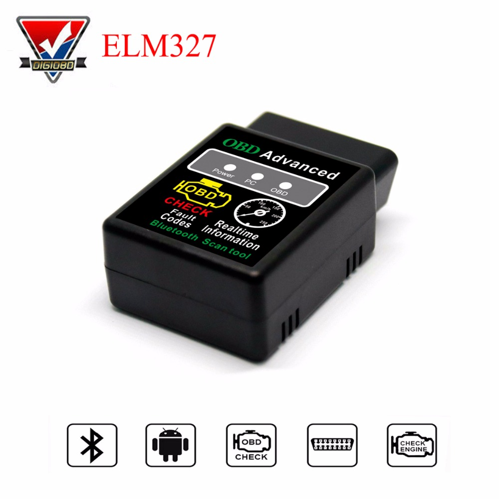 Bluetooth MINI ELM327 V1.5 OBD2 Code Reader Diagnostic Tool Advanced Car OBDII Scanner Check Engine Light Tool for Android & PC