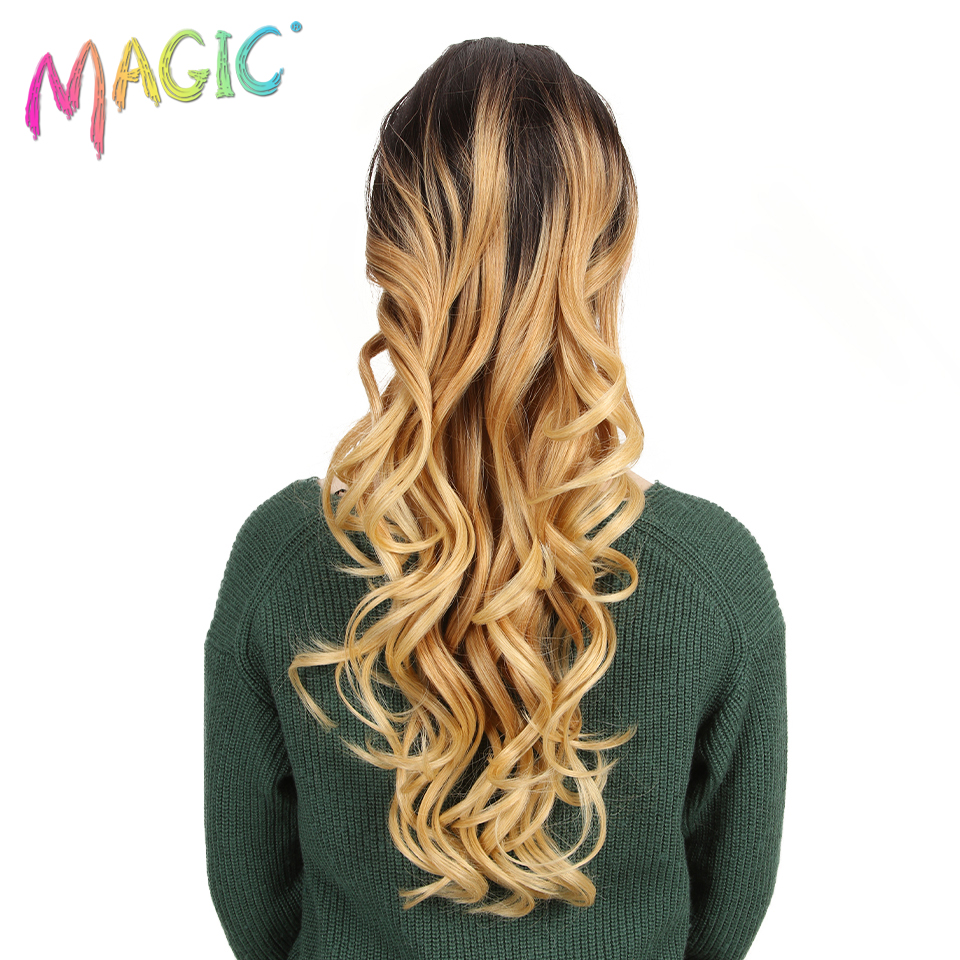 MAGIC Ponytail Fiber Synthetic-Hair Wavy Women's Long 26--Inch Elastic Drawstring High-Temperature title=