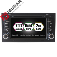 Android 7 1 1 Two Din 7 Inch Car DVD Player Multimedia For Audi A4 S4