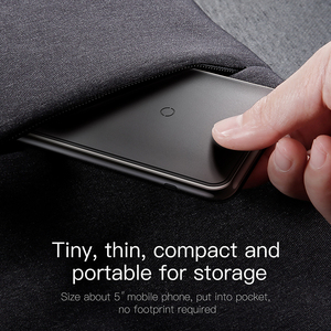 Image 5 - Baseus 트리플 코일 무선 충전기 아이폰 X Xs 최대 XR 데스크탑 빠른 무선 충전기 스탠드 삼성 Note9 S9 S8