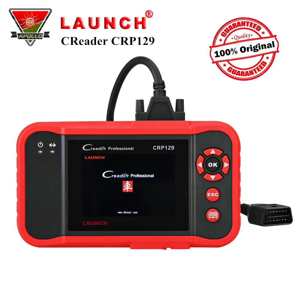 Launch X431 Creader CRP129 OBD2 Car Scanner Auto OBD Diagnostic Tool for ENG/AT/ABS/SRS+Brake/Oil/SAS Reset Code Reader pk VIII launch x431 x 431 auto diag x431 idiag diagnostic tool bluetooth for android or ios car scanner obd2 obd diagnostic tool