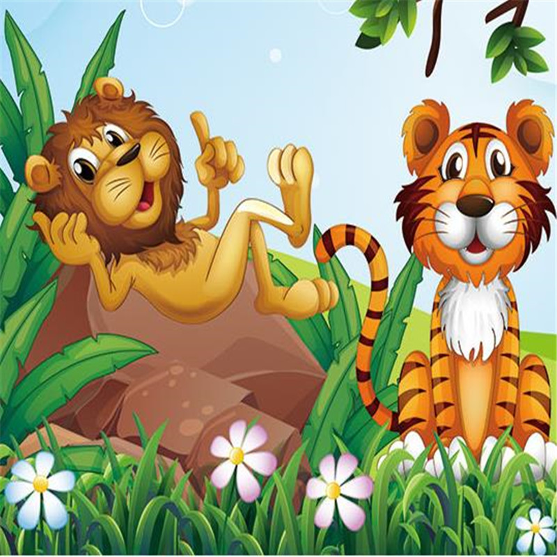 Kartun Hewan Kebun Binatang Wallpaper Foto 3d Monyet Alami Pohon