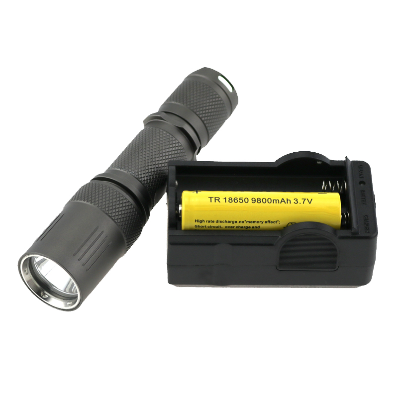 CREE XM-L L2 5 Modes 2000 Lumens LED Flashlight Waterproof Tatical Mini Led Torch Light Lamp + 18650 Battery + Charger nitecore mt10a 920lm cree xm l2 u2 led flashlight torch