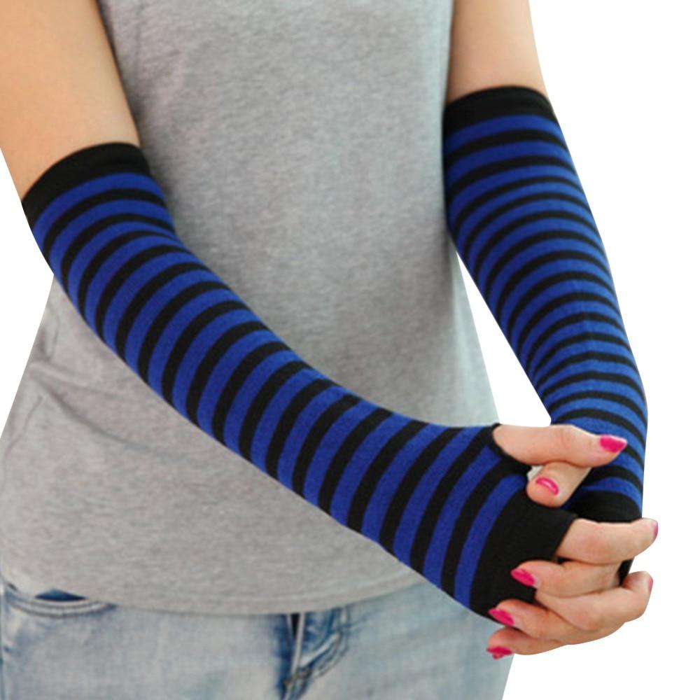 Fingerless gloves climbing - Lisli Women Winter Soft Knits Long Arm Warmer Sleeves Fingerless Gloves Knit Elbow Fashion 2016 Lady