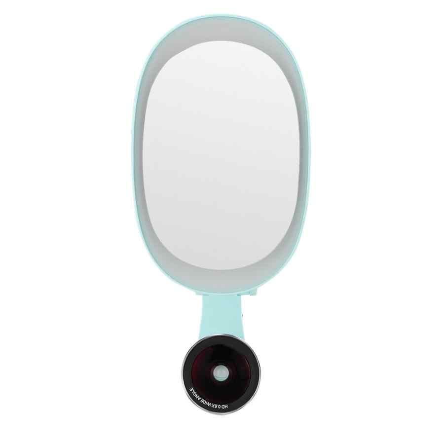 Увеличительное стекло FUNIPICA Новое большое зеркало заполняющий свет + искажение свободный 0.6X широкий угол + 15X макро телефон линза мобильного телефона объектив