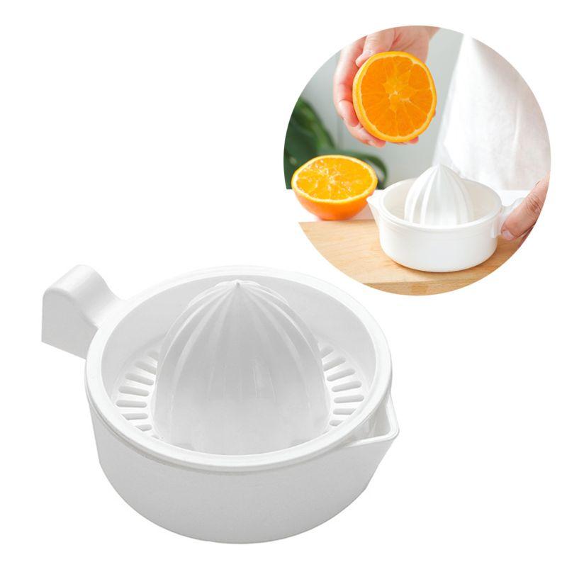 Мини-пластиковая двухслойная бытовая ручная соковыжималка для цитрусовых, соковыжималка для апельсинов, лимона, фруктов, соковыжималка, чашка с ручкой, носик, портативная кухонная