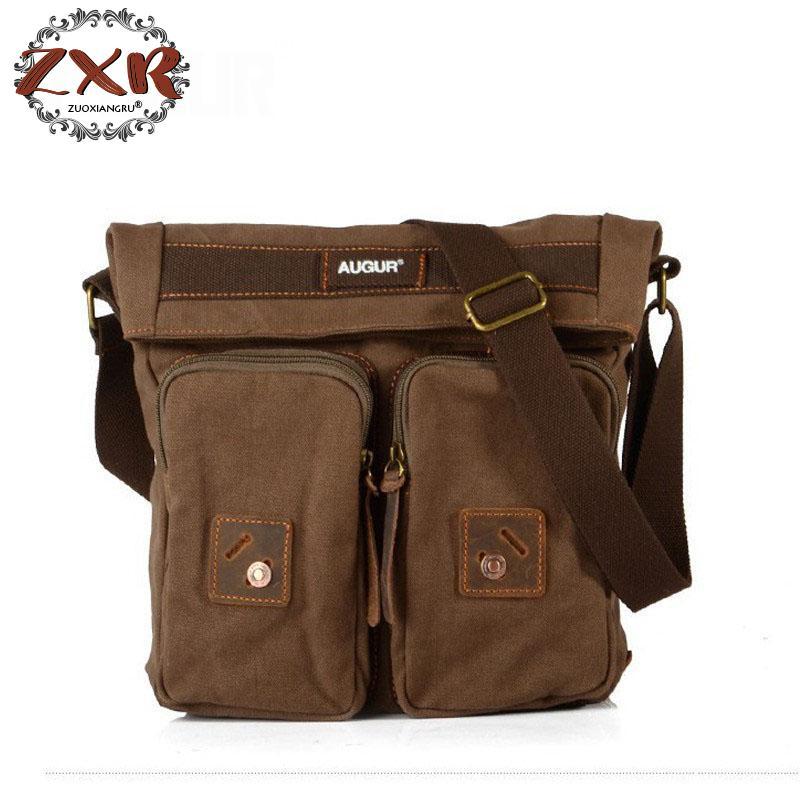 Angemessen Vintage-mode Leinwand Männer Schulter Crossbody Taschen Solide Business Männlichen Messenger Bags Lässig Reise Männer Taschen