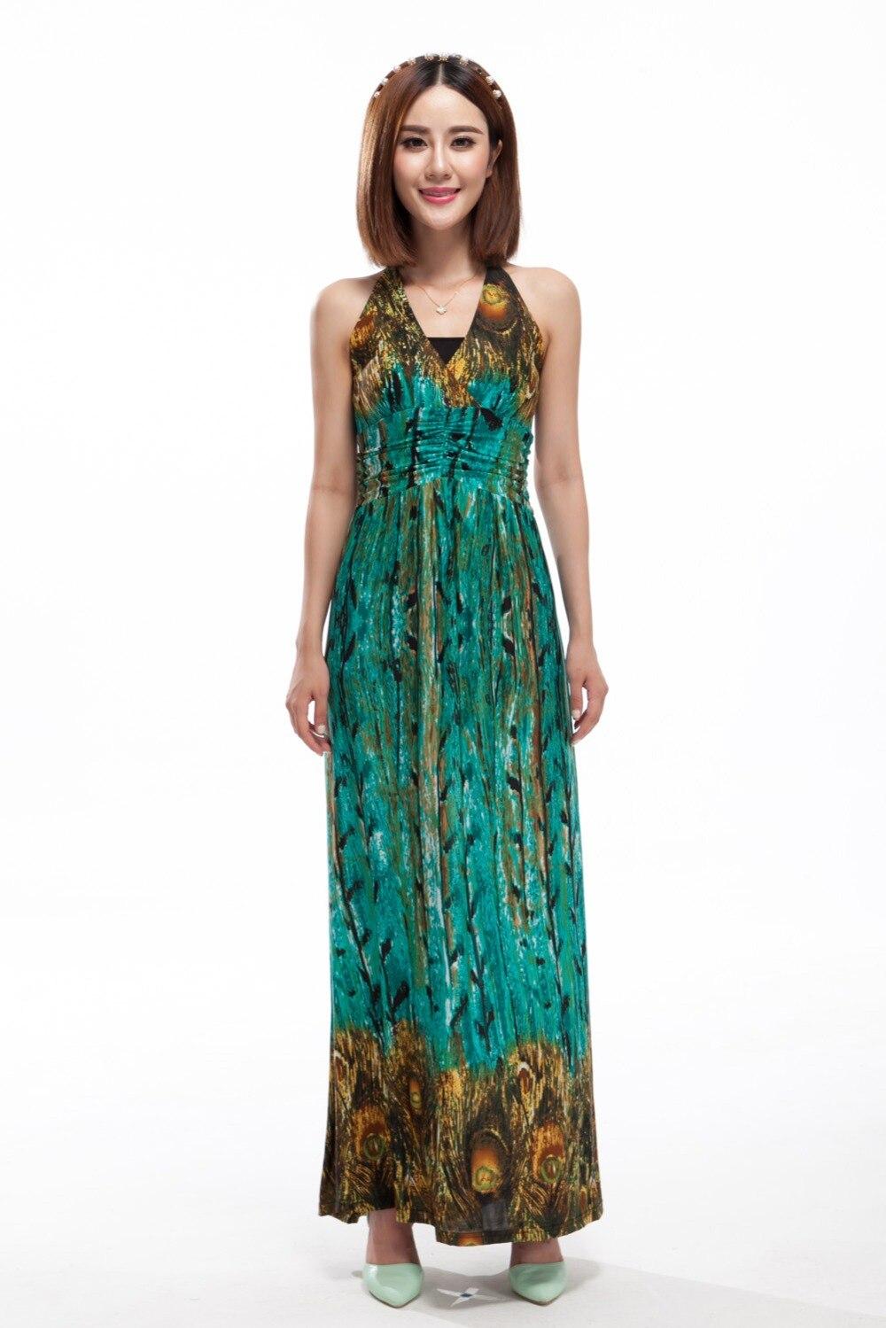 Boho Dresses plus size women clothing Ice Silk High Quality Beach Summer  maxi dress L XL XXL XXXL 4XL 5XL 6XL b399c643cf3d