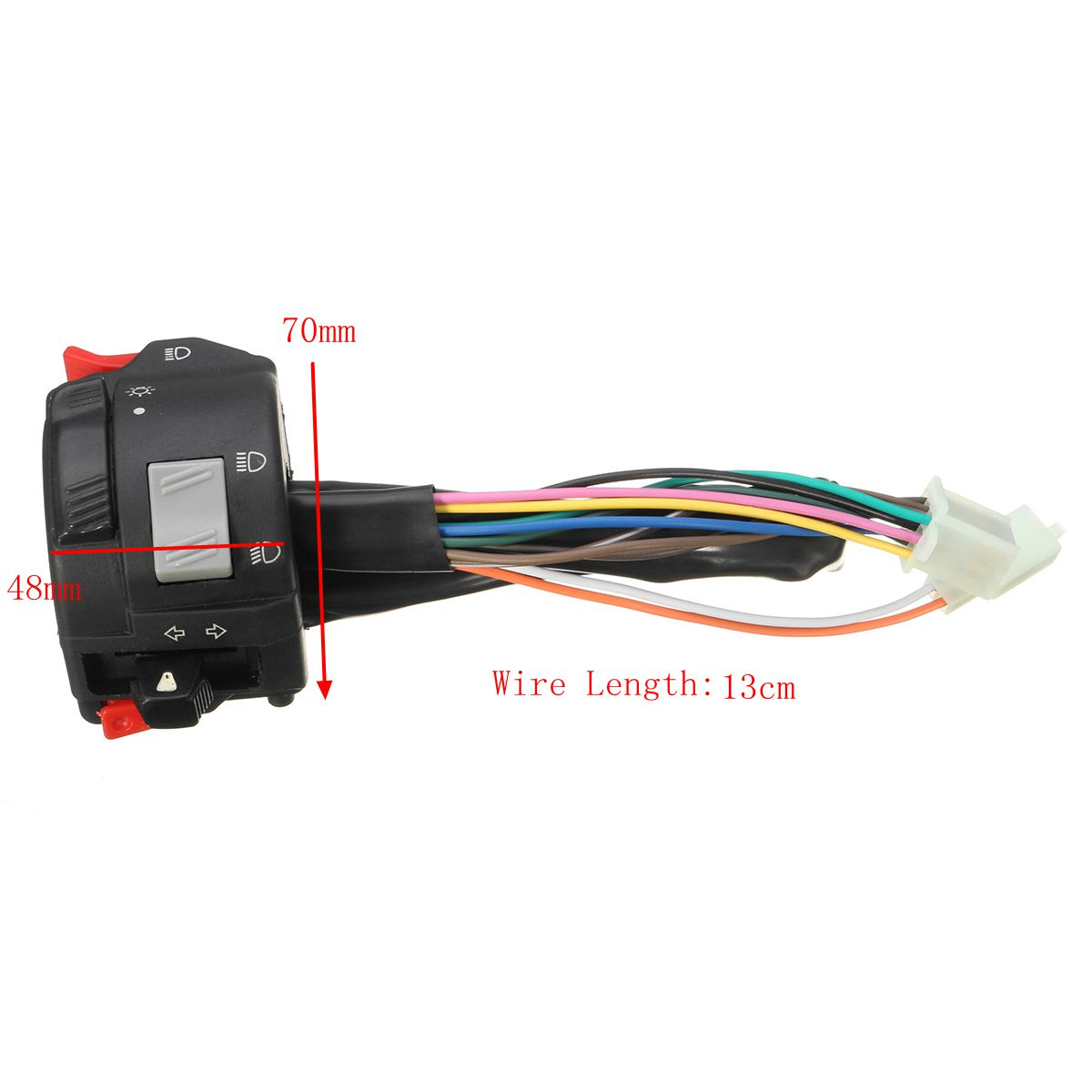 7//8inch Motorcycle Handlebar Headlight Horn Turn Signal Hi//Lo Beam On Off Switch