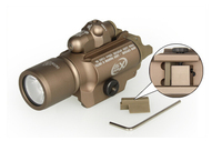 5 משלוח חינם באיכות גבוהה יח'\חבילה X400 טקטי פנס + אדום לייזר פנס משולב מחוון מנורה לאקדח רובה
