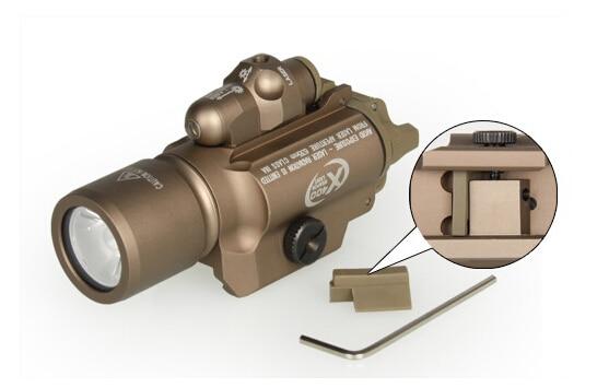 5pcs/Lot Free shipping High Quality X400 Tactical Flashlight + red Laser Flashlight Combo Indicator Lamp For Handgun Rifle Scope