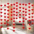 16 сердец любовь сердце занавеска романтика валентина искусственная нетканая гирлянда для дома свадьбы вечеринки украшение 8Z
