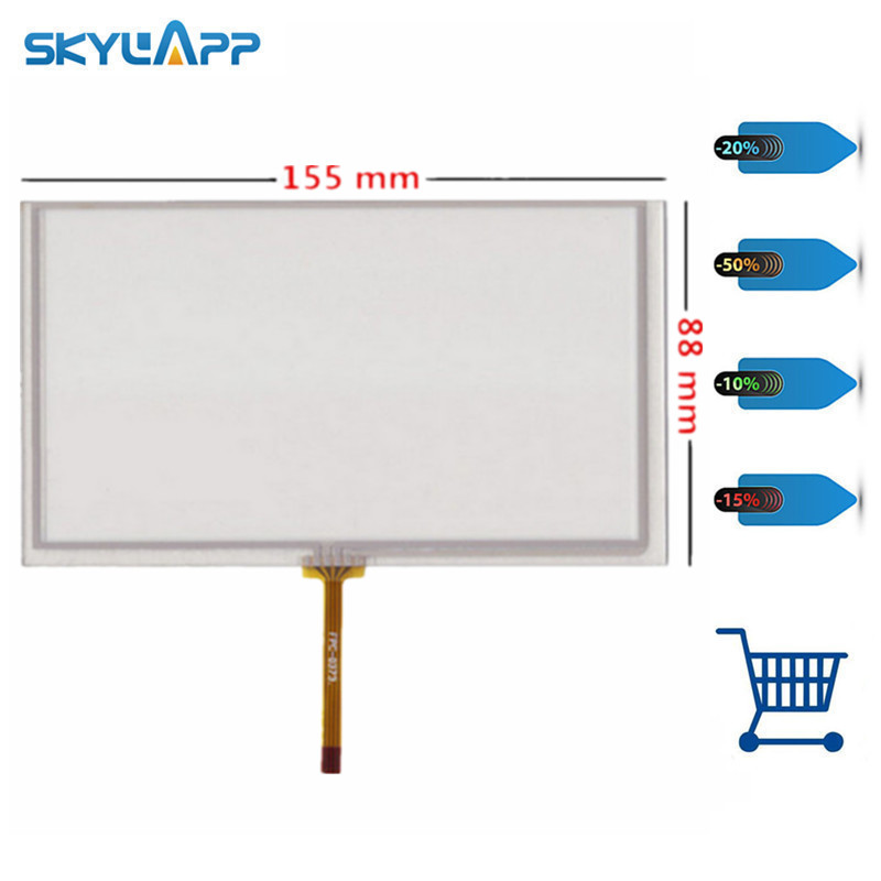 Skylarpu 6,2 pulgadas pantalla táctil 155mm * 88mm para HSD062IDW1 CLAA062LA01 del panel del digitizador envío libre