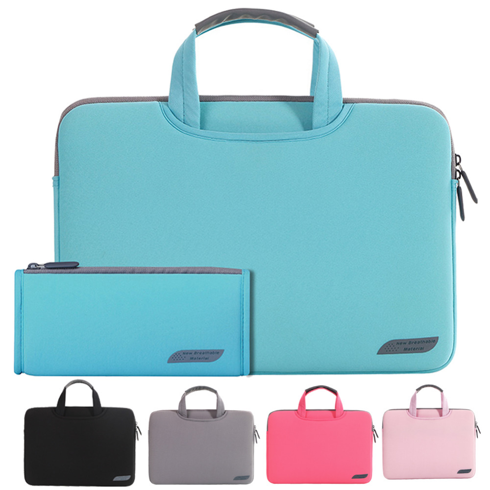 Portable Laptop Sleeve bag 11 12 13 14 15.6 inch Computer Carrying Case Handbag men women Beiefcase case for Macbook Pro 13 15