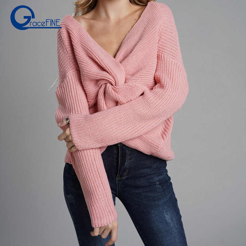 f4e927e9b64 Detail Feedback Questions about Christmas Sweater Women Autumn Solid ...