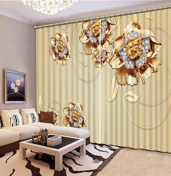 Factory diret sale Colorful Curtains for living room Home Decor Living Room Natural Art 3d curtains