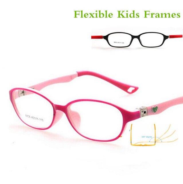 e7d8708497 180 primavera TR90 gafas ópticas montura para niños gafas flexibles de goma  niñas niños miopía Lense
