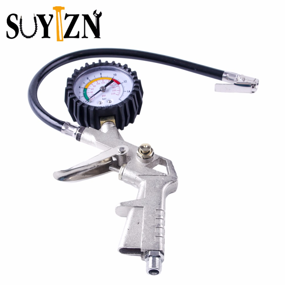 Car Tire Pressure Gauge Tire Pressure Gauge With Gas Air Pressure Gauge For Car Fit For Motorcycle Bicycle Type Measure Meter 0 100 psi tire air pressure gauge meter tester for car truck motorcycle 0 7kg cm2