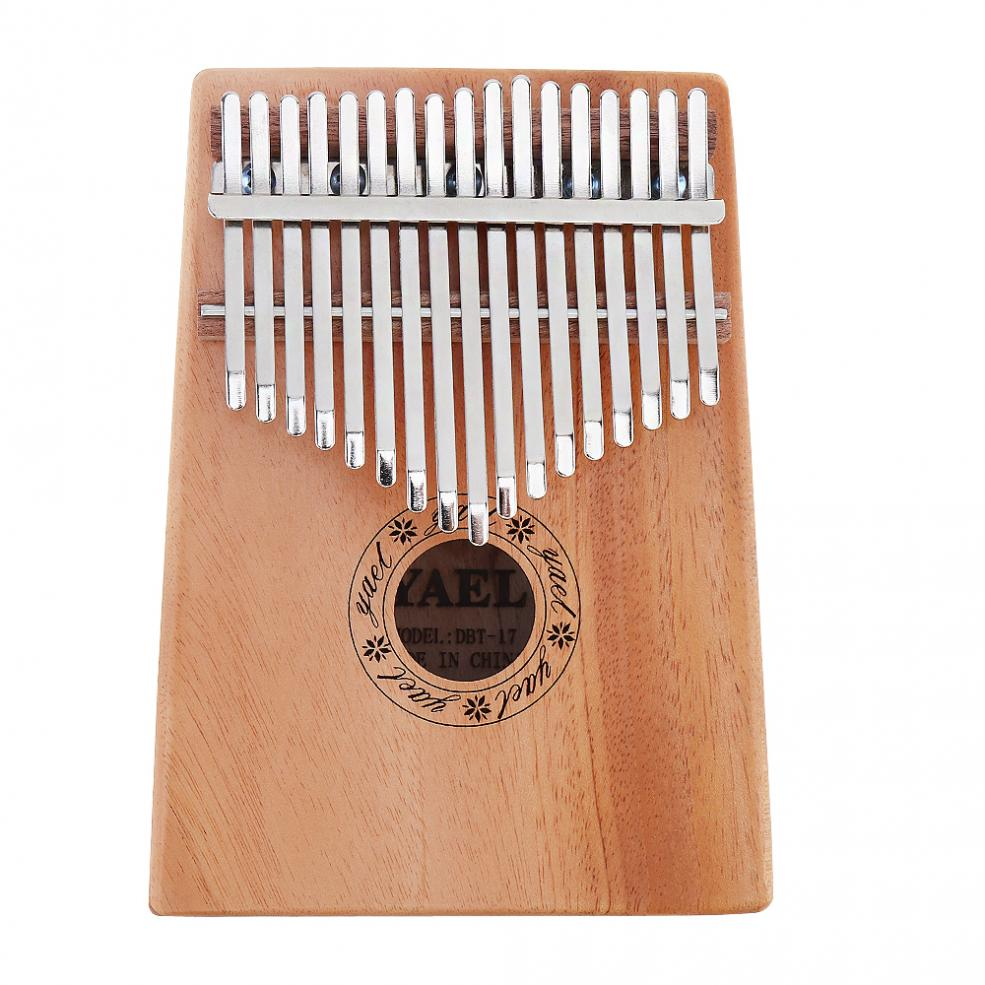 17Keys Kalimba Solid Mahogany Thumb Piano Easy to Use and Carry with 7pcs Accessories Clear Sound in Parts Accessories from Sports Entertainment