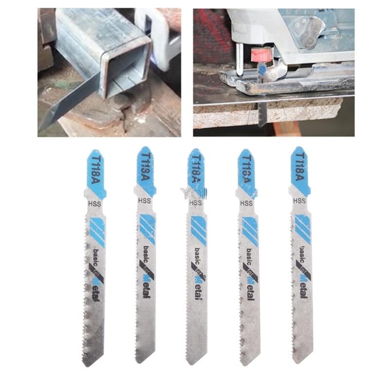 5 Pcs HSS T118A Jig Saw Blades Wood Metal Fast Cutting Reciprocating Saw Blade