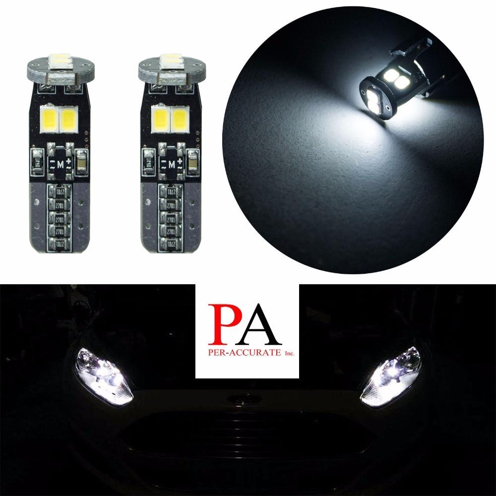 PA LED 4pcs x T10 W5W 2835 6 SMD LED Luggage Footwell Door Courtesy Floor Bulbs White PA 12V