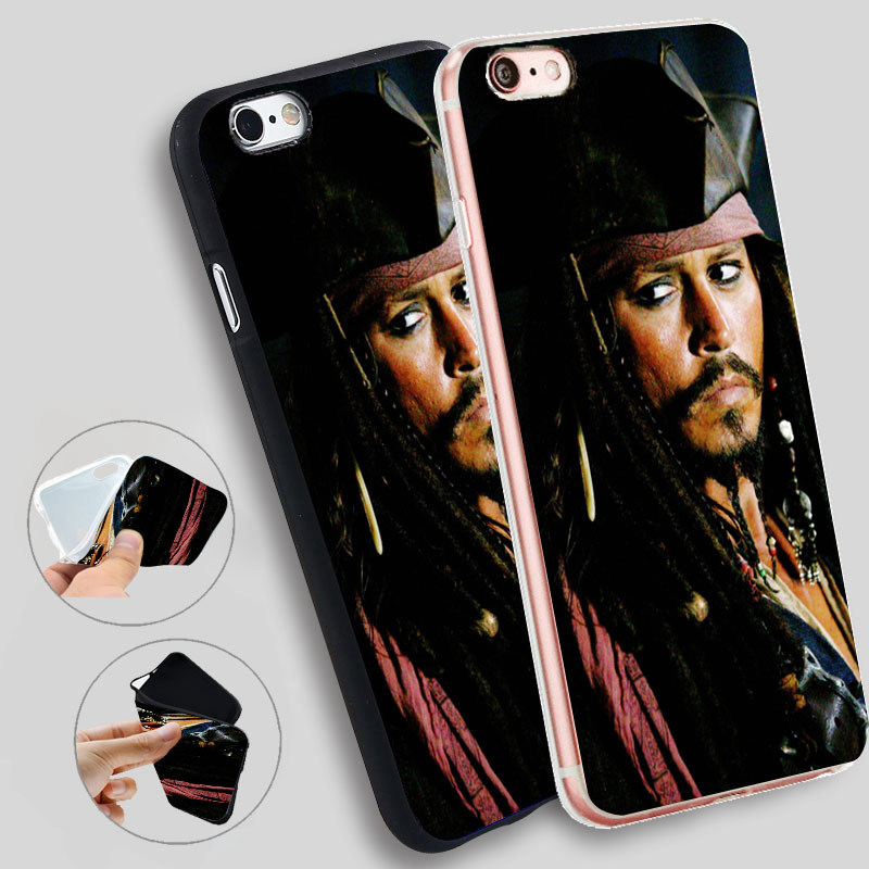 Minason Phone Cover For iphone 7 8 X Pirates Of The Caribbean Jack Sparrow Soft Silicone Case for iPhone X 5 S 5S 6 6S 7 8 Plus