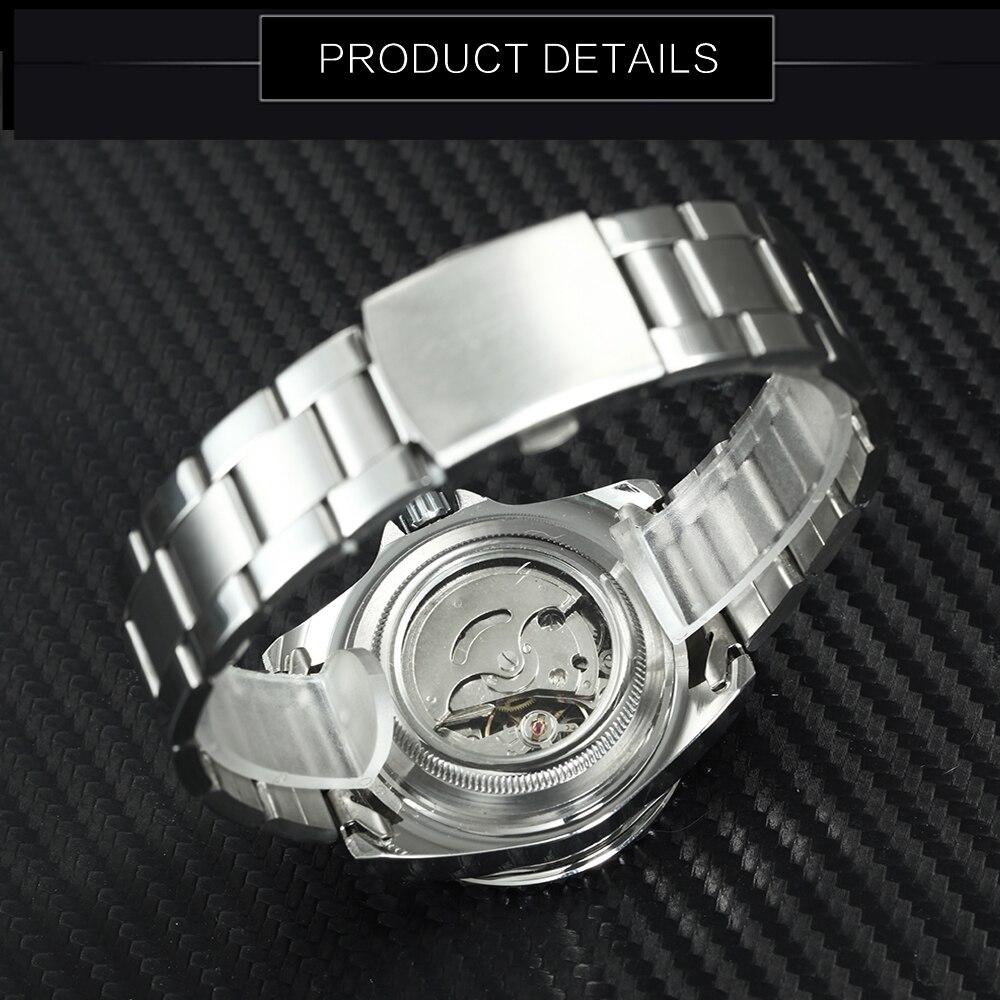Image 4 - WINNER Official Classic Automatic Watch Men Business Mechanical Watches Top Brand Luxury Steel Strap Calendar Wristwatches hotwatch stainlesswatch stainless steel strapwatch f -