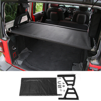 SHINEKA 4 Doors Rear Trunk Cover Luggage Cargo Rack Holder Storage Carrier Modify Car Accessories for Jeep Wrangler JK 2007+