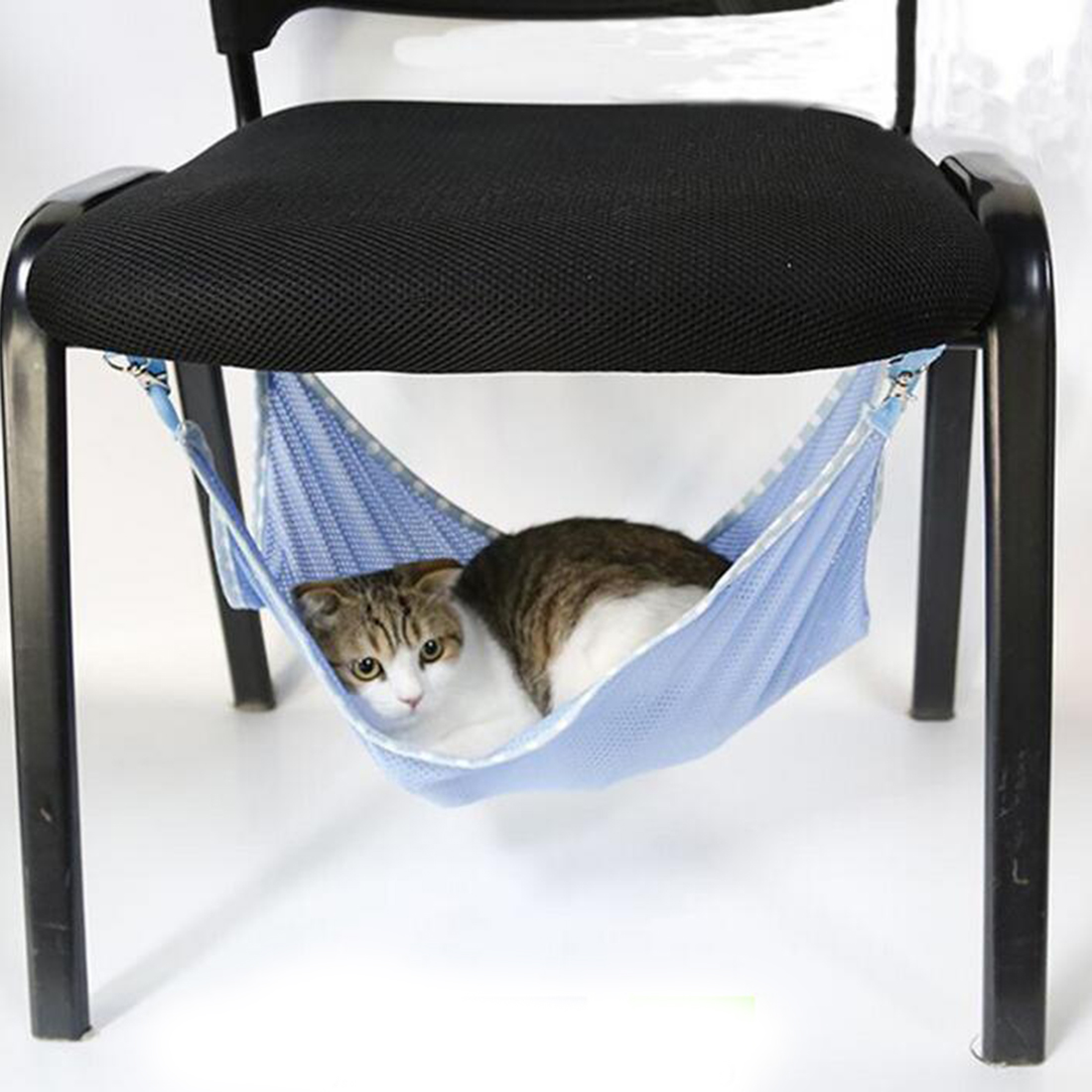 Pet Products Cat Supplies Useful Cute Cats Summer Home Hammock Cataccessorie Portable Cats Pets Breathable Mesh Hammock Multifunction Cats Beds 3 Colors Luxuriant In Design