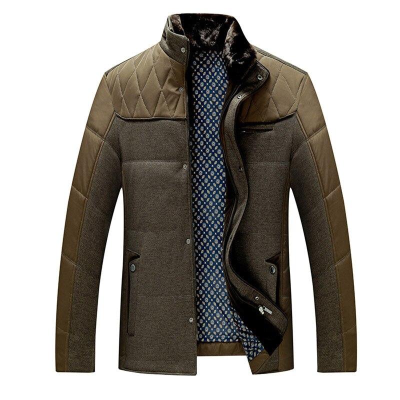 New Winter jacket men Thicken warm Casual fur collar cotton-padded parka Outwear men jacket Plus size 7XL 8XL L411