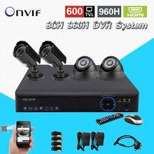 TEATE 8CH 960H H.264 DVR NVR recorder 4pcs 600TVL indoor outdoor IR night vision cameras 8CH DVR System CK-081