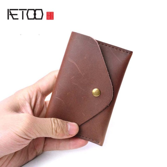 Aetoo men wallet business card holder bank cardholder crazy horse aetoo men wallet business card holder bank cardholder crazy horse skin leather cow pickup package bus colourmoves