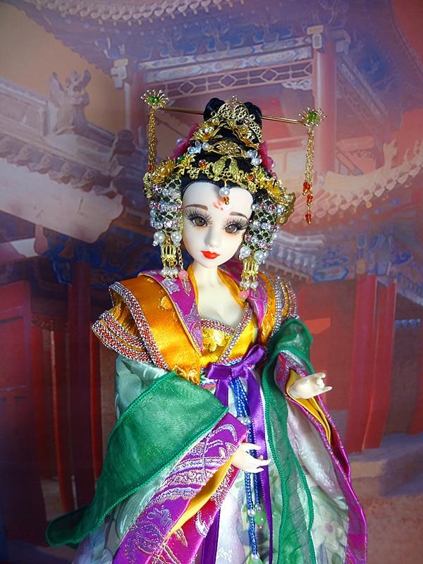 Besplatna dostava Vintage kineska princeza lutke sa zglobom tijela 3D - Lutke i pribor - Foto 4