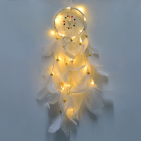 1pcs LED Dream Catcher Ornaments Creative DIY String Lights Girl Bursting Birthday Valentines Day Gift