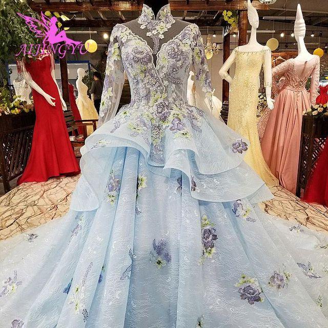 AIJINGYU فستان زفاف الدانتيل امرأة المشاركة الفاخرة خمر رخيصة صنع في الصين حجم كبير ثوب 2021 مواقع الزفاف