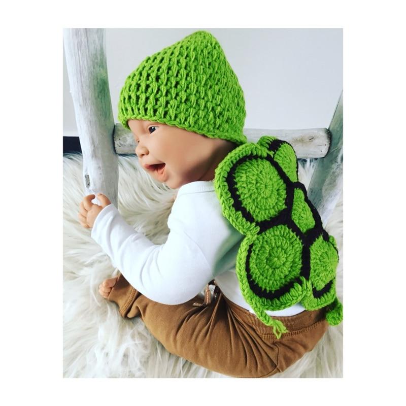 Newborn Baby Girl Boy Crochet Knit Costume Photo Photography Prop Hat /& Trousers