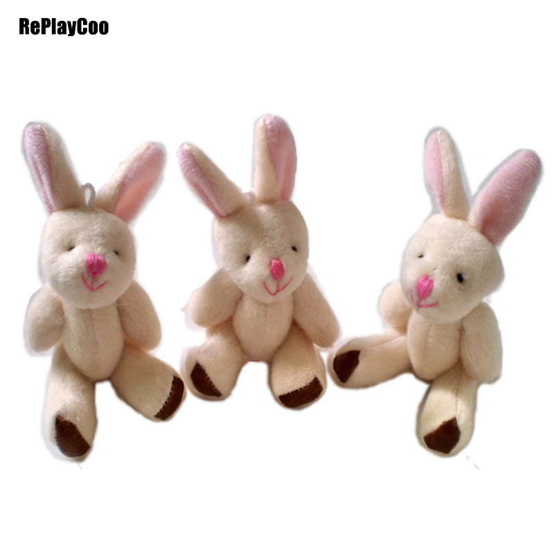 Small Toy Rabbits : Pcs lot kawaii mini bunny plush toys flower rabbit soft