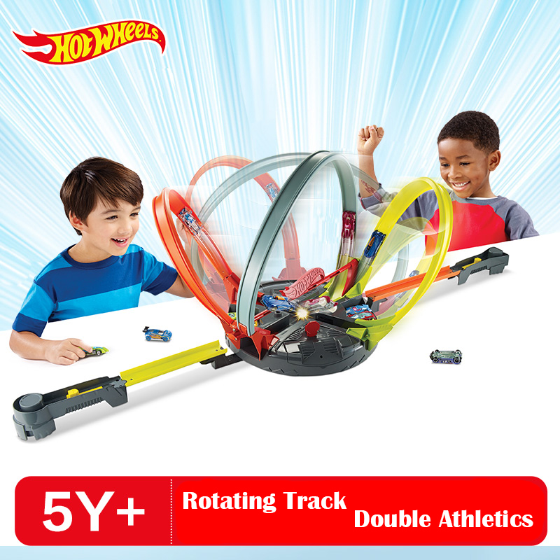 Hot Wheels Double Impact Track Car Toy Set Hotwheels Boy Toys Double Athletic Track FDF26 Kid Birthday Christmas Gift