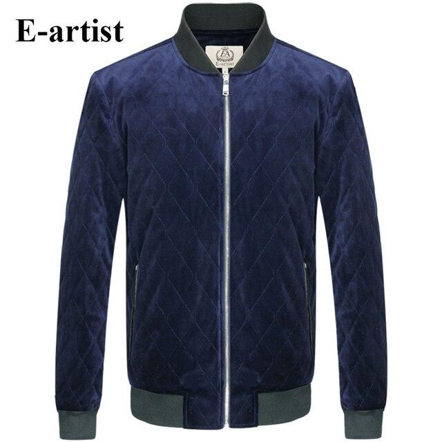 E-artist Men's Casual Winter Padded Cotton Coats Jackets Male Thicken Warm Windproof Parkas Outwear Overcoats Plus Size 5XL A68