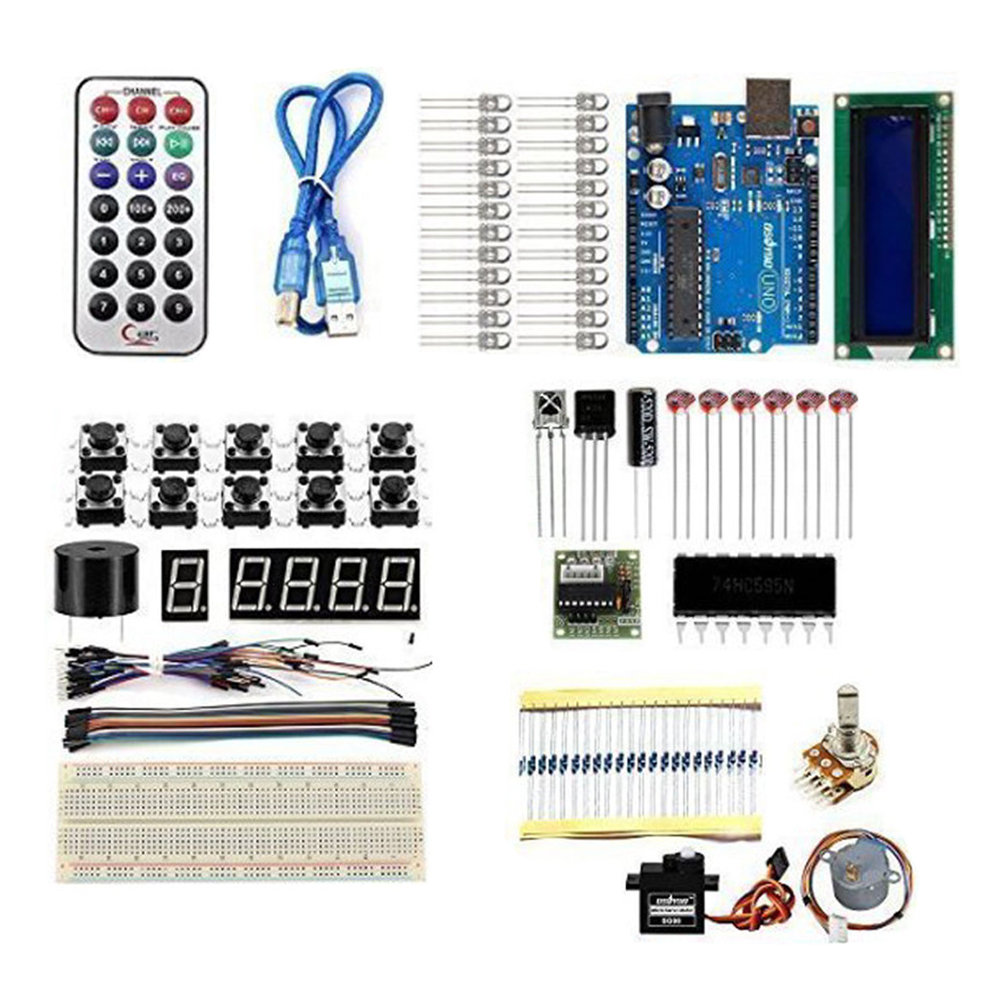 KT003 Arduino UNO Starter Kit with Bread Plate /