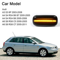 1 Pair LED Flowing Side Light Indicators 18 SMD Dynamic for Audi A3 S3 A4 S4 A6 S6 Car Styling