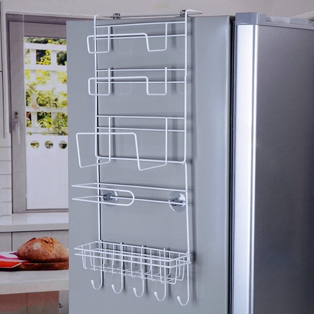 NC 6 Tier Multi Purpose Metal Kitchen Cabinet Refrigerator Side Rack Door Metal Storage Rack Shelves Organizer with Suction Cups-in Storage Holders u0026 Racks ... & NC 6 Tier Multi Purpose Metal Kitchen Cabinet Refrigerator Side Rack ...