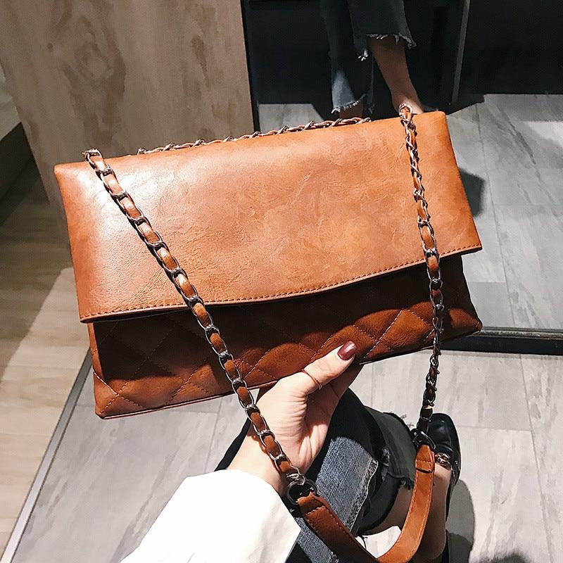 European and American fashion tide bag female shoulder bag simple wild Messenger bag Lingge small fragrance chain handbag 1