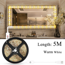 USB 5V Led Strip 5M Under Cabinet Lamp LED Touch Switch Light Waterproof Dimmable Closet Kitchen Mirror Tira Tape