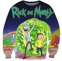 2017 S 5XL Creative 3D Print Sweatshirt Rick And Morty Men Sweatshirt Character Fashion Men Women