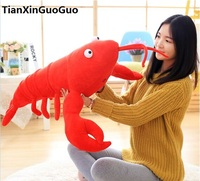 simulation red lobster plush toy large 70cm soft doll throw pillow birthday gift h0670